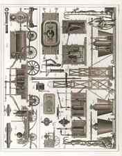 21 Fire Fighting Firefighting Equipment 1850 vintage Photo Print A4