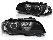 RINGS HEADLIGHTS LPBMG5 BMW E46 COUPE CABRIO 1999 2000 2001 2002 2003 LED BLACK