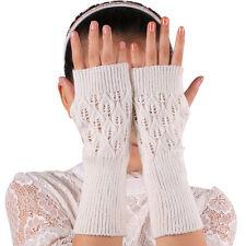 Fashion Unisex Women Ladies Fingerless Warm Gloves Knitted Winter Warm Warmer