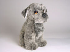 Miniature Schnauzer Puppy by Piutre, Handmade in Italy, Plush Stuffed Animal Nwt