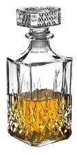 Glass Whiskey Decanter Sherry Brandy Liqueur 1 Litre Decorative Glass Drinks Jar