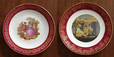 Vintage Two Limoges France Collector Plates: Courting Couple and Edward Manet