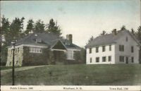 Windham NH Library & Town Hall c1910 Postcard
