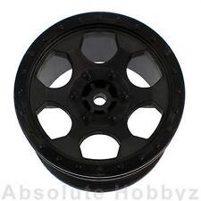"DE Racing Trinidad 2.2"" 1/10 Stadium Truck Wheels (Black) (TLR 22T) (1pr)"