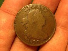 1800 Draped Bust Large Cent. VERY RARE VARIETY! CUD & DIE BREAKS!! L@@K!!!!
