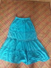 Blue Indian style style Ladies Skirt One Size