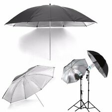 43'' 110cm Black & Silver Photo Studio Flash Light Umbrella Softbox Reflector