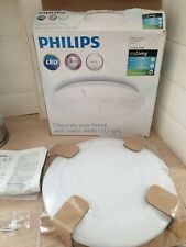 Philips LED Ceiling Lamp Bedroom Light myLiving Cinnabar White 4x4 W 333623116~