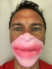 Funny Half Face Big Lips Botox Face Fat Lip Mask Fancy Dress Jagger Stag Party
