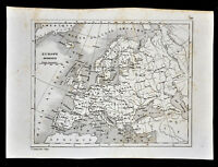 1835 Levasseur Map - Europe - Spain Italy Austria Germany France Holland Britain
