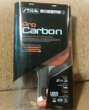 STIGA CARBON PADDLE PING PONG with NEW CASE with handwritten writing