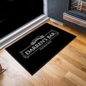 Personalised any name Welcome grey beer label Bar door mat Door mat 60 x 40 cm