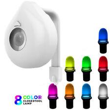 8 Farben LED Toilettenlicht mit Bewegungsmelder Batteriebetriebene wc licht