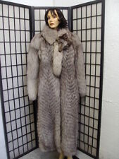 ~MINT NORWEGIAN BLUE FOX FUR JACKET COAT W/ HEAD & TAIL WOMEN WOMAN SIZE 10