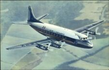 Air France Vickers Viscount Airplane Vintage Air Line Issued Postcard