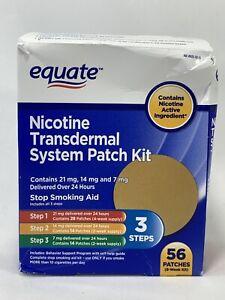 Nicotine Transdermal System Patch 3 STEP Kit 21/14/7 mg  - 56 Total Exp 12/21+