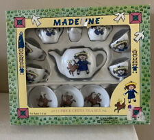 New In Box Madeline 13 piece china Tea Set W Cups Dishes Box Has Small Tears