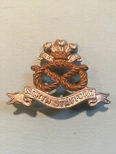 VICTORIAN NORTH STAFFORDSHIRE REGIMENT CAP BADGE -100% ORIGINAL GUARANTEED!!!
