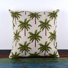 "18"" Tropical Palm Tree Boho Pillow Cover Beach House Island Decor Cushion Cover"