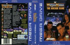 WrestleMania Sega Mega Drive PAL Replacement Box Art Case Insert Cover