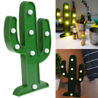 LED Flamingo Pineapple Cactus Night Lamp Party Christmas Decoration Home Supply