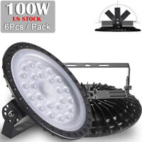 6X 100W LED High Low Bay Light Hanging Chain Factory Warehouse Workshop Lighting
