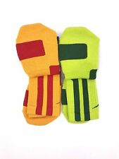 Nike Elite 2.0 Cushioned Crew Basketball Large Socks Select Color Red Yellow