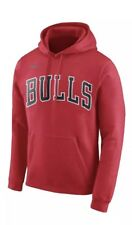 Nike Men's Chicago Bulls Basketball Wordmark Hoodie Sweatshirt XL Red NBA