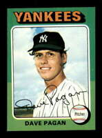 1975 Topps #648 Dave Pagan NM/NM+ RC Rookie Yankees 504053
