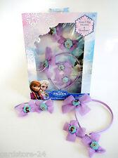 Disney Frozen Anna Elsa Kinder Haarschmuck Set Glitzer Schleifen Haarreif Clips