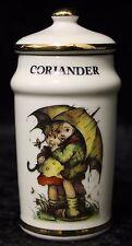 "Vintage 1987 Mj Hummel Danbury Mint Gold Trim Porcelain Coriander Spice Jar 4"""