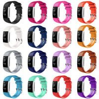 Large Silicone Replacement Wrist Bracelet Watch Band Strap for Fitbit Charge 2