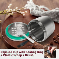2-GEN Stainless Steel Refillable Reusable Coffee Capsule Pod For Nespresso Maker