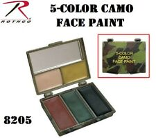 Camoflauge Camo Face Paint 5 Multi Color Army Military Hunting Rothco 8205