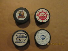 Ihl Peoria Rivermen Vintage Lot of 4 Different 2 Sga Logo Hockey Pucks
