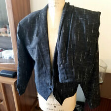 Vintage 80's New Wave/ New Romantics Super Flecked Black 1-Button Suit