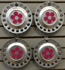 1998-2005 VW BEETLE Bug Center Cap SET with PINK DAISY