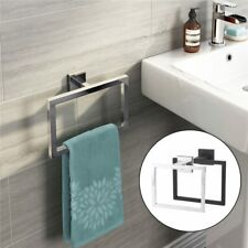 Towel Holder Stainless Steel Square Wall Mounted Towel Rack Bathroom Accessories