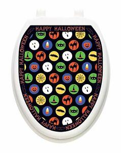 Toilet Tattoos Halloween Boo K Dots  Vinyl Removable Halloween Lid Decor