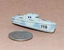 Small Micro Machine Plastic PT-Boat PT-119 in Gray Camo, No Red Bottom