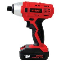 """18V Li-Ion CORDLESS 1/4"""" IMPACT DRIVER QUICK CHARGE CHANGE SCREWDRIVER VARIABLE"""