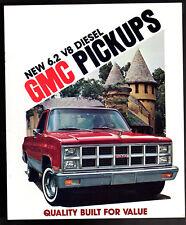 1982 GMC Truck c1500 C2500 C3500 K1500 K2500 ORIGINAL Brochure