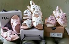 UGG BABY TODDLER ALLAIREY SANDALS:NIB PINK or SILVER STARS, WHITE FLOWERS