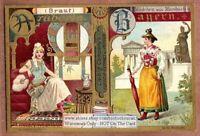 Arabia and Bavarian Women Fashons Clothing 1899 Trade Ad Card