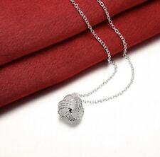 Women's Fashion Jewelry 925 Silver Plated Knot Pendant Necklace Chain 44-5