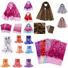 Fashion Women Adult Chiffon Flower Printing Long Soft Wrap Scarf Shawl Scarves