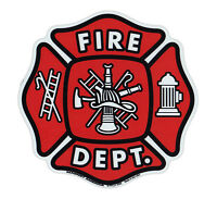 Magnetic Bumper Sticker - Fire Department Shield (Maltese Cross, Firefighter)