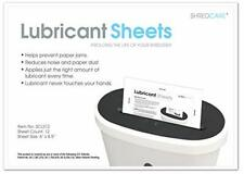 Shredcare Paper Shredder Lubricant Sheets Scls12 Pack Of 12 85 X 6