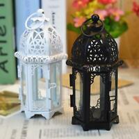 Hanging Moroccan Style Glass Lantern Light Candle Holder 7*19CM Home DIY O5Q9