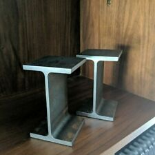 industrial design vintage mid-century i beam steel reclaimed bookends retro